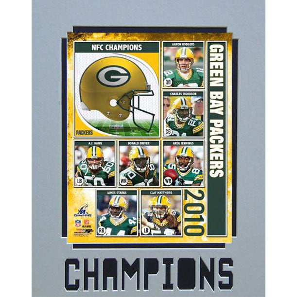 Encore Select 2010 NFC Champions Green Bay Packers Matted Photo