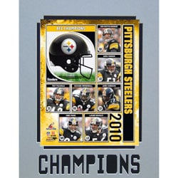 Encore Select 2010 AFC Champions Pittsburgh Steelers Matted Photo