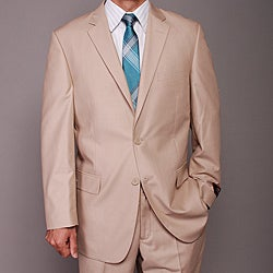 Carlo Lusso Men's Tan 2-button Suit