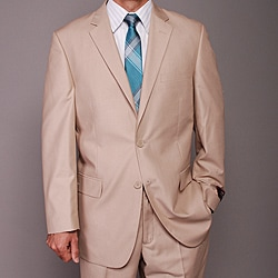 Men's Tan 2-button Suit