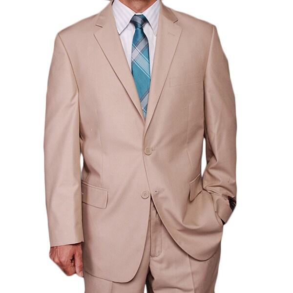 Men's Tan 2-button Suit