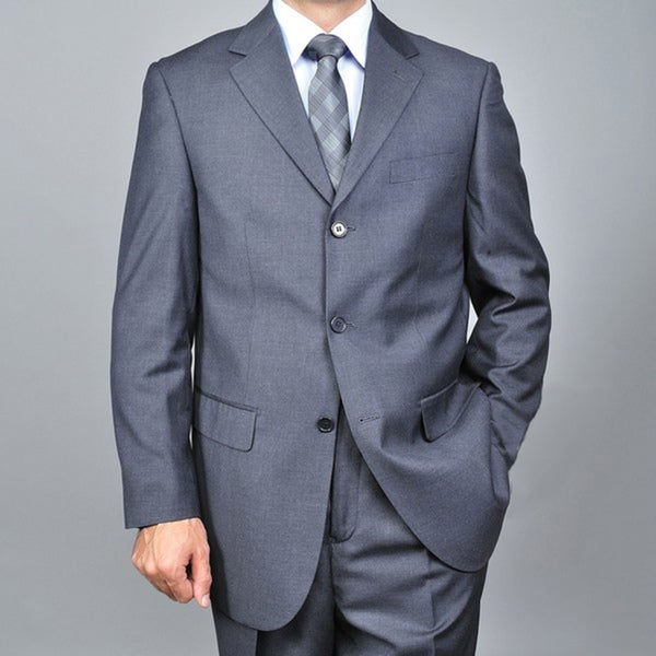 Men's Charcoal Grey 3-button Suit