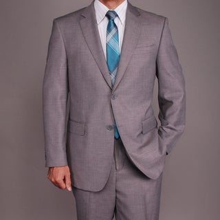 Bertolini Men's Light Gray Wool/Silk Blend 2-button Suit