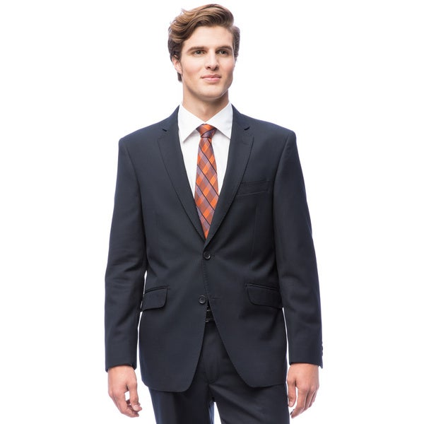 Men's Navy Blue 2-button Slim-fit Suit