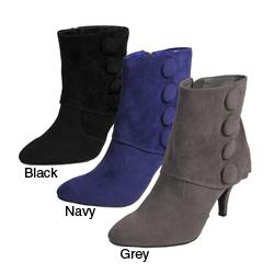 Journee Collection Women's Button Accent Ankle Boots
