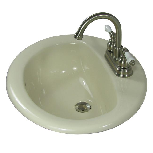 Mansfield Porcelain Bone Drop In Round Sink Overstock Shopping Great Deals On Denovo