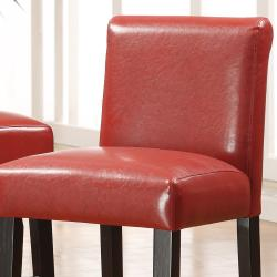 Bennett 29 inches Red Faux Leather Bars