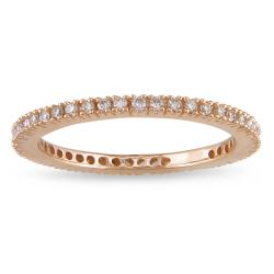 18k Pink Gold 1/3ct TDW Diamond Eternity Ring (G-H, SI1-SI2)
