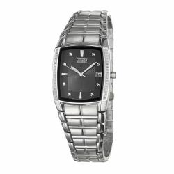 Citizen Men's 'Eco-Drive' Stainless Steel Quartz Diamond Date Watch