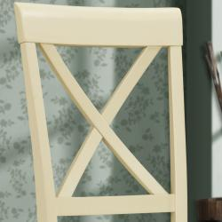 Cedar Hills X-back Antique White 24 inches Counter Height Stool