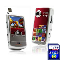 SVP MP300 Red HD Camcorder with 16GB SDHC Memory Card