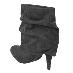 Glaze by Adi Faux Suede High Heel Slouchy Boots