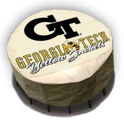 Georgia Tech Yellow Jackets Round Patio Set Table Cover