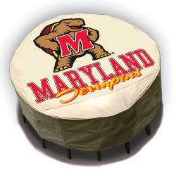 NCAA Maryland Terrapins Round Patio Set Table Cover