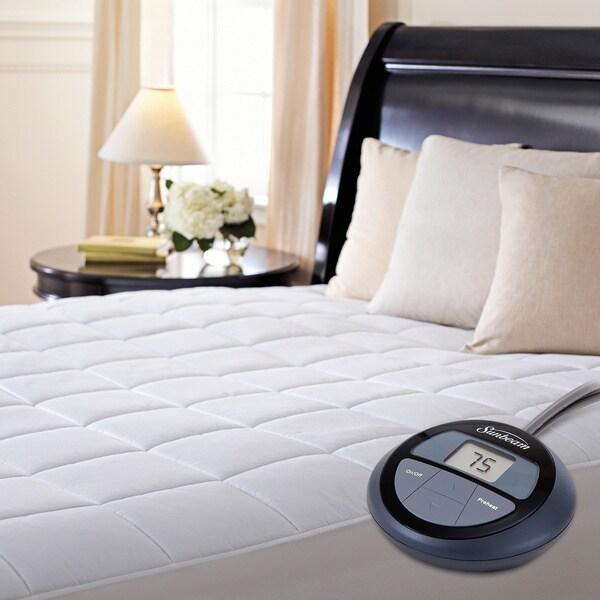 Sunbeam Premium Heated Electric Queen-size Mattress Pad