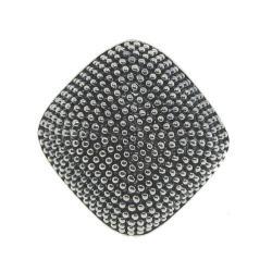 Silvertone Chunky Studded Ring