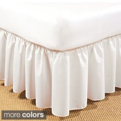 Ruffled Poplin 14-inch Drop Daybed Bedskirt