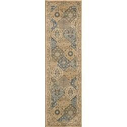 Preston Blue Panel Rug (2'3 x 7'6)