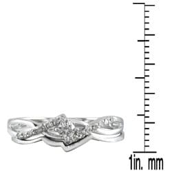 Marquee Jewels 10k White Gold 1/6ct TDW 2-Piece Diamond Ring Set (I-J, I1-I2)