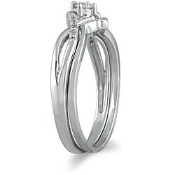 10k White Gold 1/6ct TDW 2-Piece Diamond Ring Set (I-J, I1-I2)