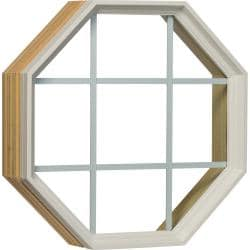 Century White Clad Fixed Clear GBG Insulated Glass Octagon Window