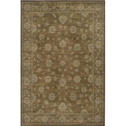 Preston Kashan Brown Rug (5'3 x 7'6)
