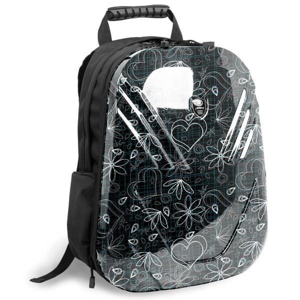 J World 'Tuttle' Black Love Letter 18-inch PC Tablet Backpack