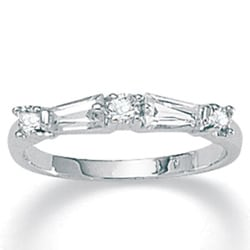 Ultimate CZ Sterling Silver White Cubic Zirconia Ring