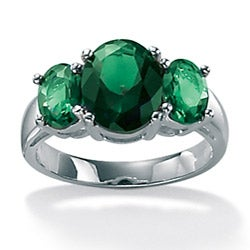 Lillith Star Sterling Silver Green Glass Mt. St. Helens-inspired Ring