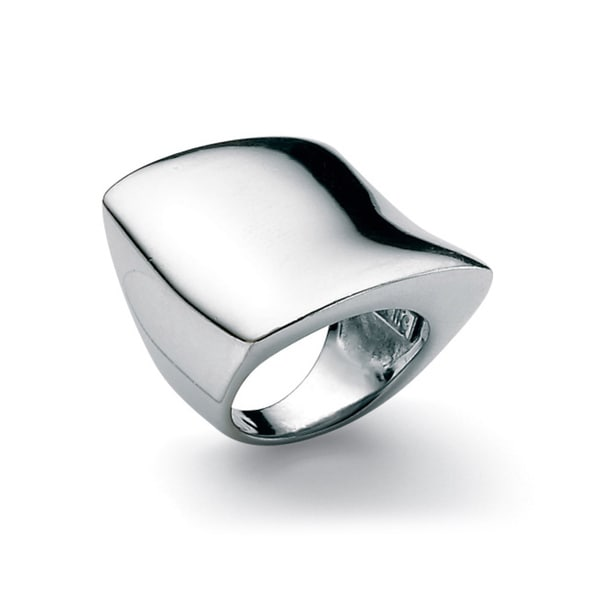 PalmBeach Sterling Silver Free-Form Square Ring Tailored