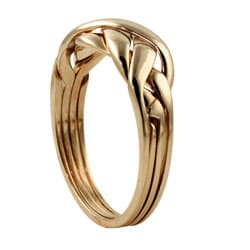 Toscana Collection 18k Gold over Silver Puzzle Ring