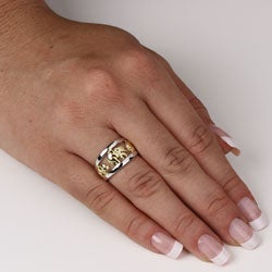 Toscana Collection Two-tone Silver Elephant Ring