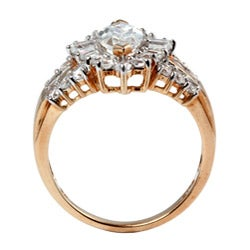Ultimate CZ 10K Yellow Gold Marquise-cut Cubic Zirconia Ring