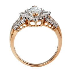 PalmBeach CZ 10K Yellow Gold Marquise-cut Cubic Zirconia Ring Classic CZ