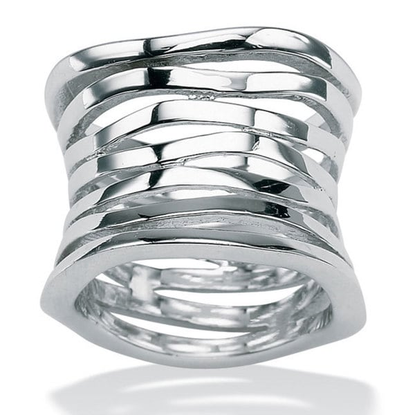 PalmBeach Multi-Row Concave Tailored Band in .925 Sterling Silver Tailored
