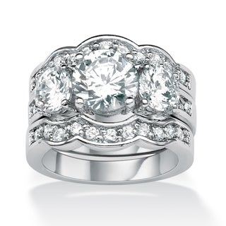 Ultimate CZ Sterling Silver Cubic Zirconia Ring Set