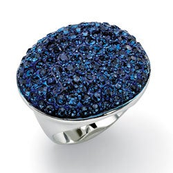 Lillith Star Sterling Silver Blue Crystal Ring