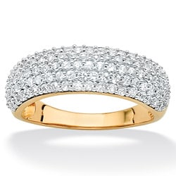 Ultimate CZ 10K Yellow Gold Cubic Zirconia Band-style Ring