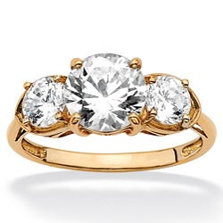 Ultimate CZ 10k Gold Cubic Zirconia Anniversary Ring