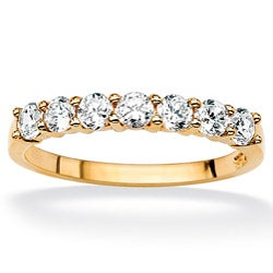 Ultimate CZ 10K Yellow Gold Round-cut Cubic Zirconia Ring