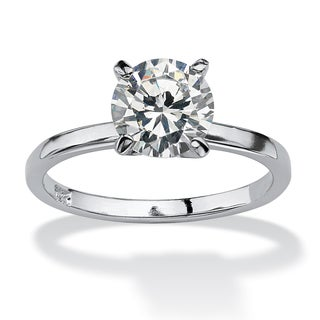 PalmBeach CZ Sterling Silver Cubic Zirconia Solitaire Ring Classic CZ
