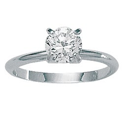 Ultimate CZ Sterling Silver Cubic Zirconia Solitaire Ring