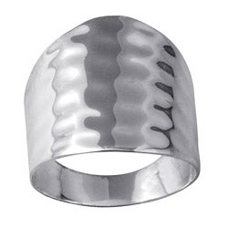 Toscana Collection Sterling Silver Hammered-style Ring