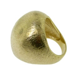 Goldtone Voluminous Scratch Ring