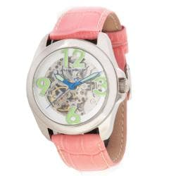 Android Women's Concept T-40 Skeleton Automatic Leather Strap Watch