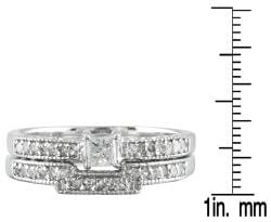 Marquee Jewels 10k White Gold 2/5ct TDW Diamond Bridal Ring Set (I-J, I1-I2)
