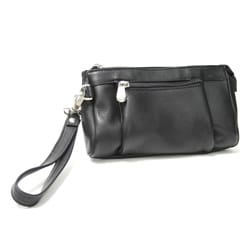 Royce Leather Vaquetta Multi-pocket Wristlet Wallet