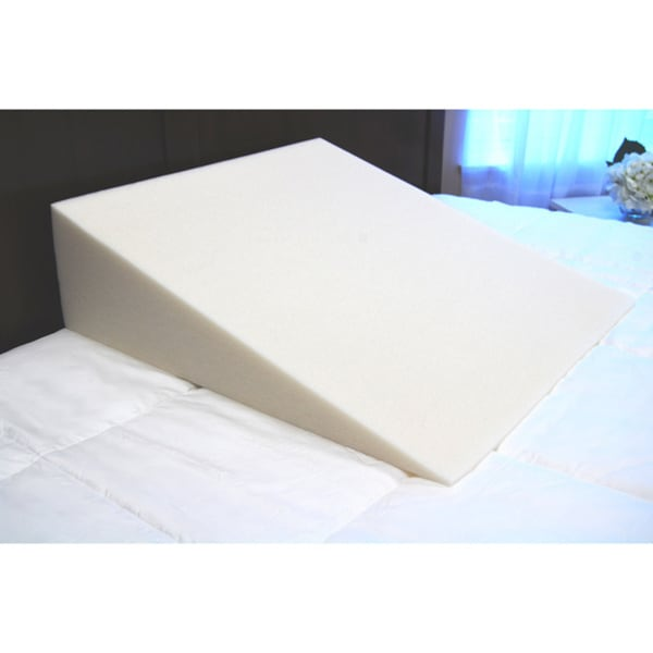 SplendoRest Visco Elastic Memory Foam Extra Firm Support Bed Wedge Pillow (As Is Item)