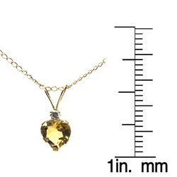 10k Yellow Gold Citrine Heart Necklace