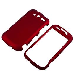 INSTEN Red Rubber Coated Phone Case Cover for HTC T-mobile myTouch 4G